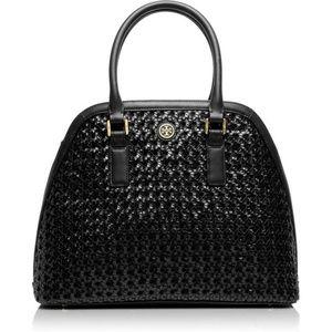 Tory Burch Black Basket Weave Bag